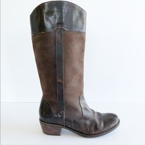 Ugg brown leather western cowboy boots size 7